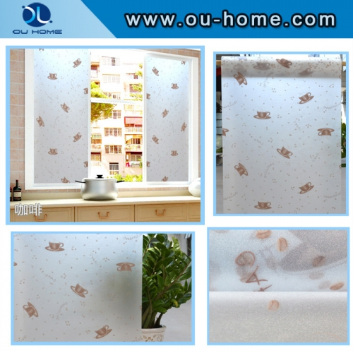 8014 Kitchen glass window decorative films