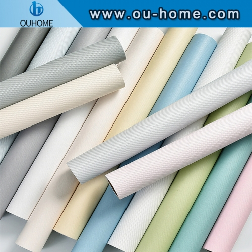 Waterproof Matte Self adhesive Wallpaper Removable Solid Color Vinyl Wall Stickers Home Decor Bedroom Furniture Decorative Films