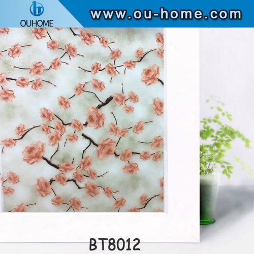 Decorative Glass Window Film PVC Self Adhesive Stained Frosted Vinyl Privacy