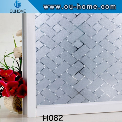 Static 3D embossing decorative window pvc film
