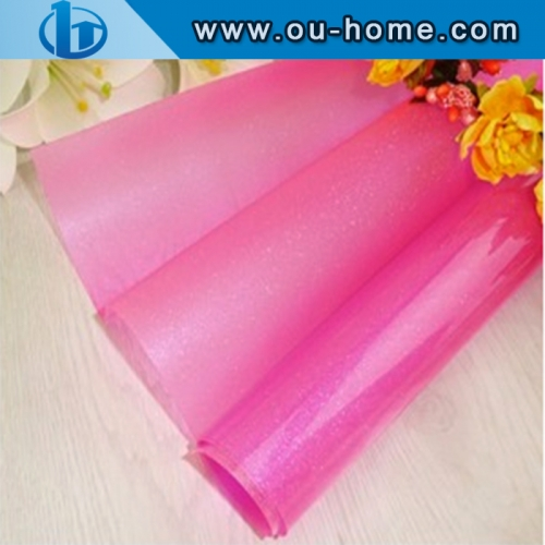 Translucent Pink Building Decorative Colored Window Tint Glass film