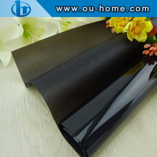 Black translucent building decorative window film for glass tinted