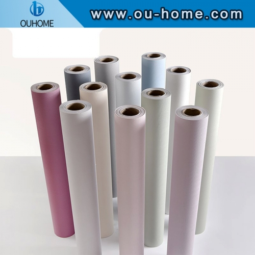 Color Vinyl Self Adhesive Matte Decorative Film Furniture PVC Waterproof Wall Stickers
