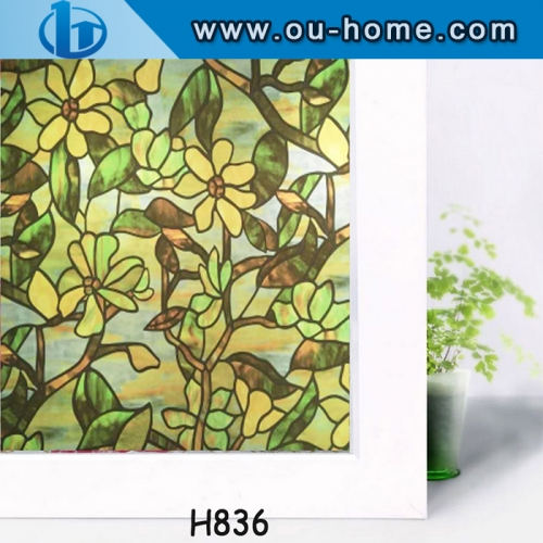 Printed static eco-friendly PVC decorative glass window film
