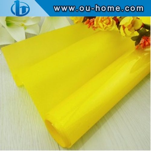 Pure Yellow Color Building Colored Window Foil Tint Home Decorative Glass Film