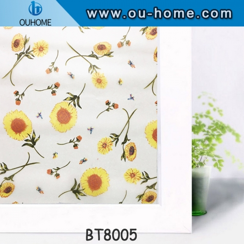 Decorative Privacy Window Film Frosted Glass Film Stained Glass Window Film Window Cling Sticker for Home