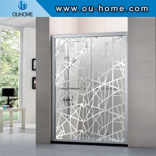 PET Cling Sticker Window Privacy Glass Film Shower Room