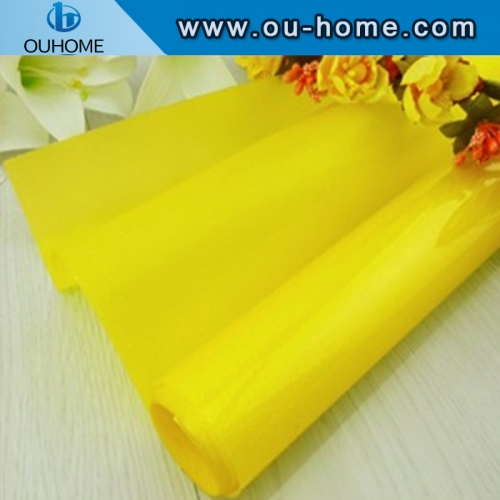 BT906 Pure Yellow Color Building Colored Window Foil Tint Home Decorative Glass Film