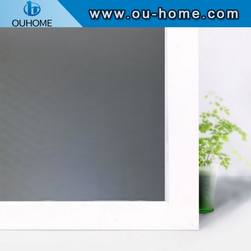BT117 Tinting Frosted Self-adhesive Decorative PVC Material Window Glass Film