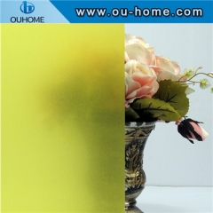BT906 Decorative Building Pure Yellow Glass Film