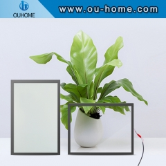 Power-on transparent power-off color-changing glass self-adhesive film