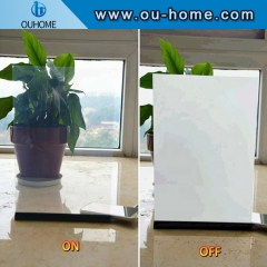Opaque adjustable electronic glass film