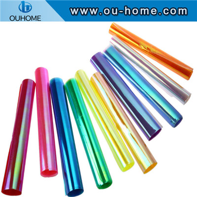 Ouhome colored decorative headlight rainbow glass film