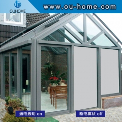 Household partition electronic atomization projection color-changing glass film