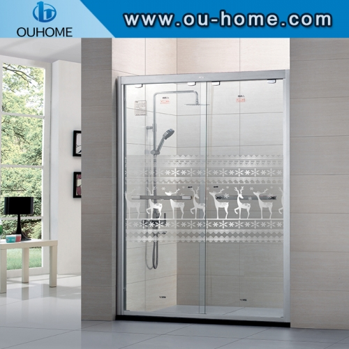 Waterproof pet transparent bathroom explosion-proof glass window film