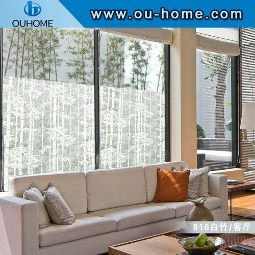 BT816 Ramboo decoration frosted glass privacy film
