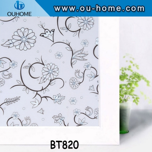 BT820 Frosted adhesive pvc home window film