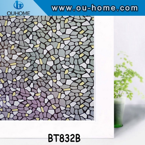 BT832B small stone self-adhesive frosted PVC decorative glass film