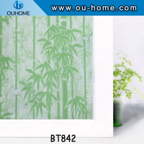 BT842 Stained glass window film tinted glass sticker film window privacy