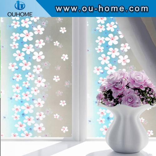 BT845 PVC self-adhesive stained frosted vinyl privacy decorative glass window film