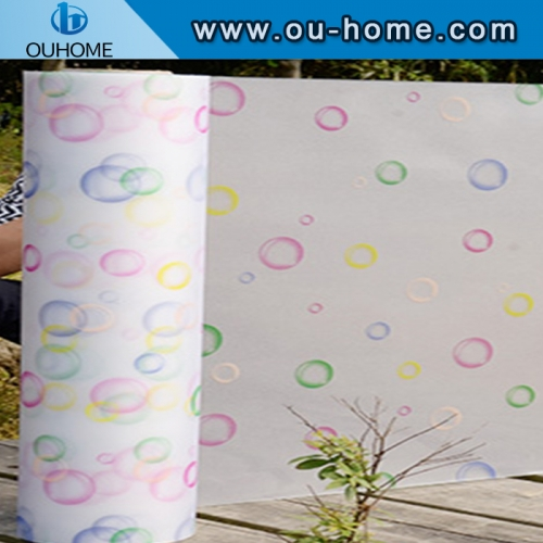 BT848 Tinted decorative window frosting Printing Glass window film