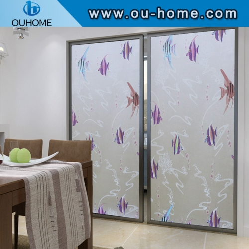 BT851 PVC frosted window privacy film self-adhesive decorative film for Glass
