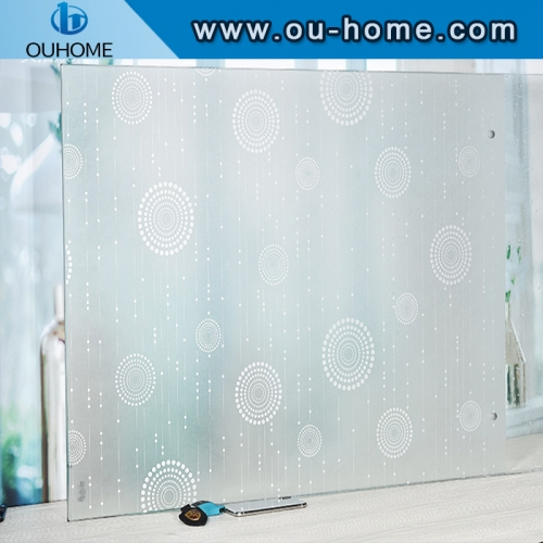 BT856 Factory glass window film plastic stained glass window film