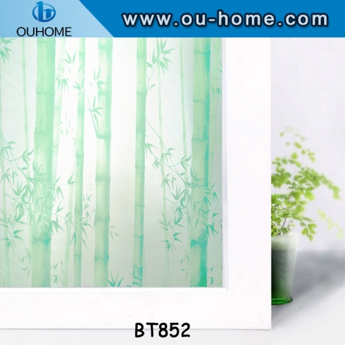 BT852 Waterproof PVC Frosted Glass Window Privacy Film