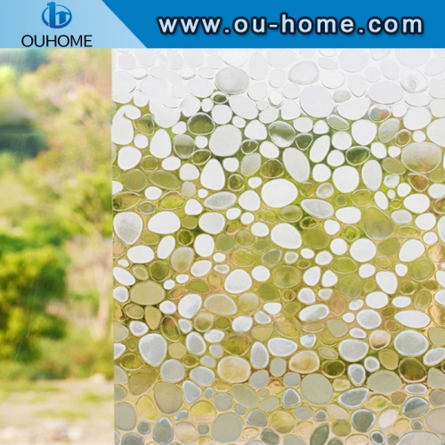 H4206 Embossed static non-adhesive decorative privacy glass film