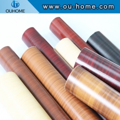 Self Adhesive Paper Furniture Cupboard Floor Decoration PVC Wooden Grain Vinyl Film