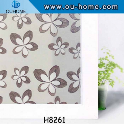 H8261 No-adhesive removable decorative window film