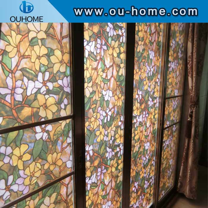 H837 Static Cling Stained Glass Window Film window decoration