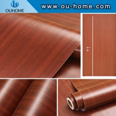 Wall panel decorative wood grain PVC composite film