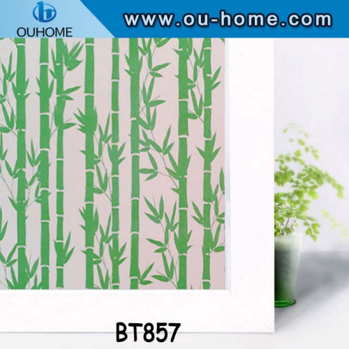BT857 Decorative frosted glass window film home stained glass vinyl film