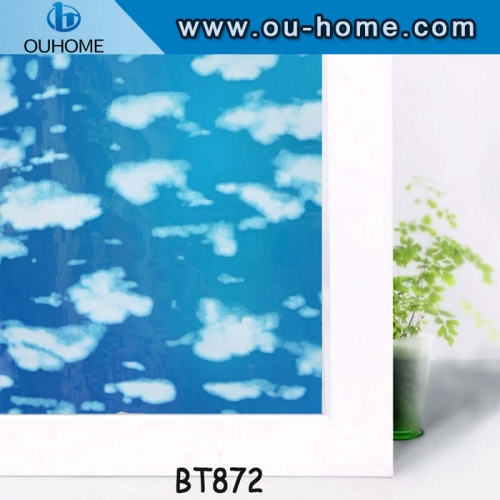 BT872 PVC stained Self adhesive window film