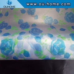 BT883 Colorful frosting decorative window film