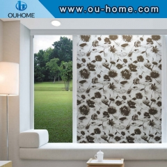 8060 Black lotus stained decorative window film
