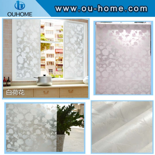 8086 White lotus self-adhesive privacy film