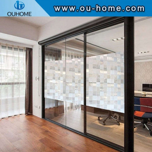 H12406 privacy protection PVC static frosting glass film