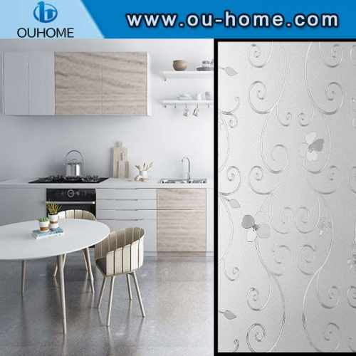 H9706 Easy to disassemble decorative partition static glass window film