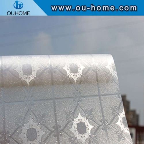 H9206 3D frosted embossing electrostatic cling window film