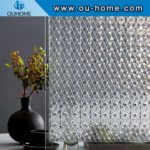 H11206 Diamond decoration static cling glass film