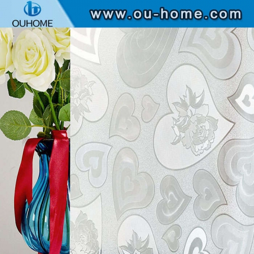 H10006 Heart decorative static cling window film