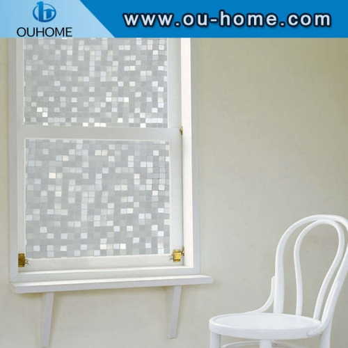 H087 No-Glue 3D Static Decorative Privacy Glass film