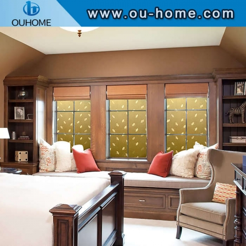 H086B Gold leaf shading static glass window film