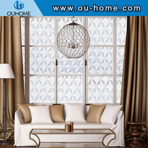 H10906 PVC decorative static privacy cling window film