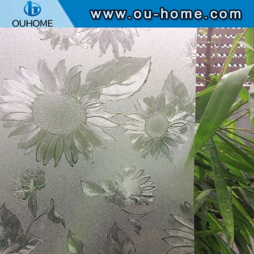 H6206 Sunflower embossed static window film