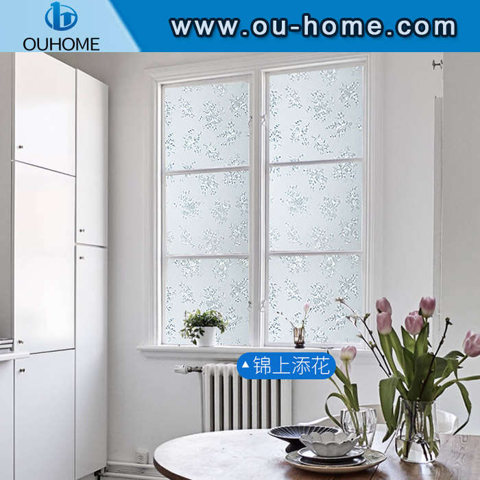 H5806 3D static emboss privacy cling window film