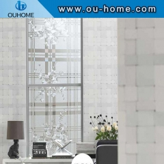H8506 Flower embossed decorative static glass film